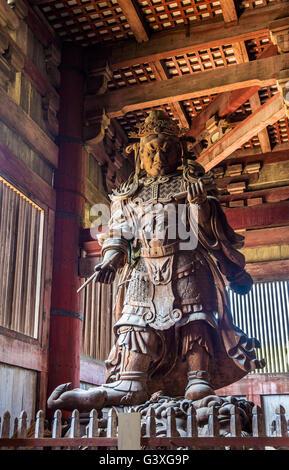 Komokuten, a guardian at Todaiji Temple in Nara - Stock Photo
