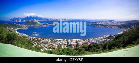 Beijing, Rio de Janeiro, China. 28th Apr, 2015. This file photo shows the view of Guanabara Bay, in Rio de Janeiro, - Stock Photo