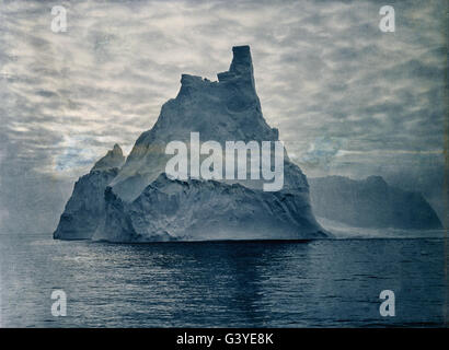 Frank Hurley - No title (A turreted berg) - Stock Photo