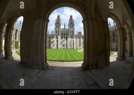 All Souls College, Oxford University Campus, Oxfordshire, England, United Kingdom, Europe - Stock Photo