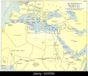 World map of middle east europe and north africa stock photo map europe world war 2 the mediterranean and middle east theatre of war 1960 gumiabroncs Choice Image