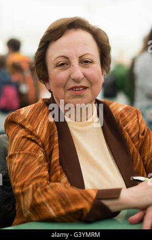 Shirin Ebadi,  Iranian lawyer, a former judge and human rights activist and founder of Defenders of Human Rights - Stock Photo