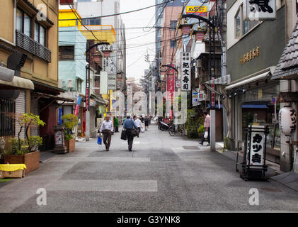 TOKYO - MAY, 2016: One of the old streets in Taito on June 01, 2016 - Stock Photo