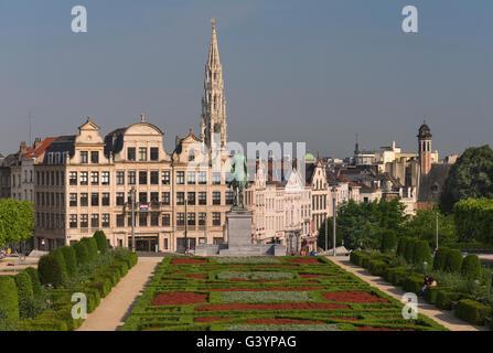 City view Mont des Arts Brussels Belgium - Stock Photo