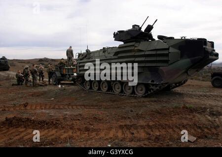 An Amphibious Assault Vehicle. - Stock Photo
