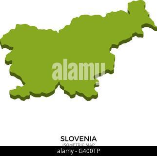 Slovenia political map with capital Ljubljana national borders