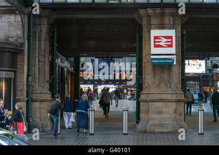 Main entrance to Central Station,Glasgow,Scotland,UK, - Stock Photo