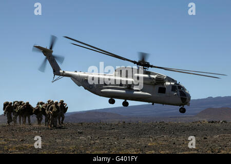 A U.S. Marine Corps CH-53D Seahawk helicopter. - Stock Photo