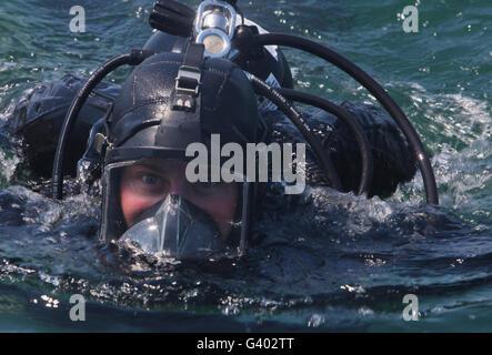 U.S. Marine with Black Sea Rotational Force. - Stock Photo