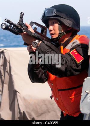 A member of the Chinese People's Liberation Army. - Stock Photo