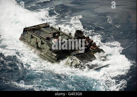 An AAV-7 amphibious assault vehicle. - Stock Photo