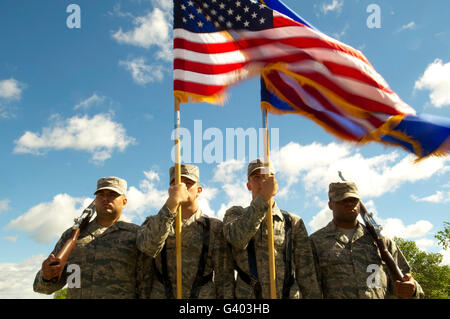 Members of the Minot Air Force Base Honor Guard. - Stock Photo