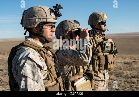 U.S. Marine Corps joint terminal attack controllers. - Stock Photo