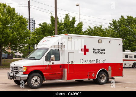American Red Cross Disaster Relief Vehicle - Stock Photo