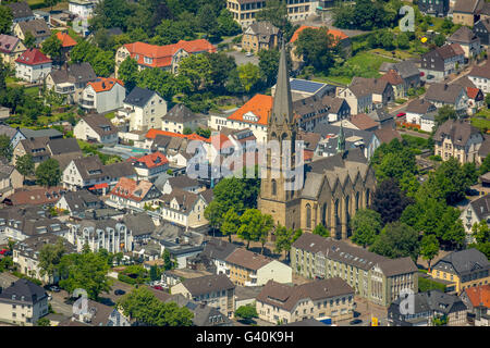 Aerial view, Warsteiner brewhouse and Warsteiner brewery and Stock ...