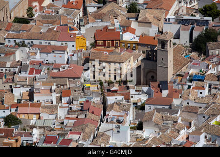 View from Cruz de Castillo to the town of Jaén, Andalusia, Spain, Europe - Stock Photo