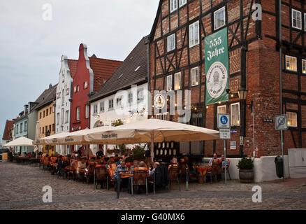 Brewhouse am Lohberg, restaurant, Wismar, Mecklenburg-Western Pomerania - Stock Photo