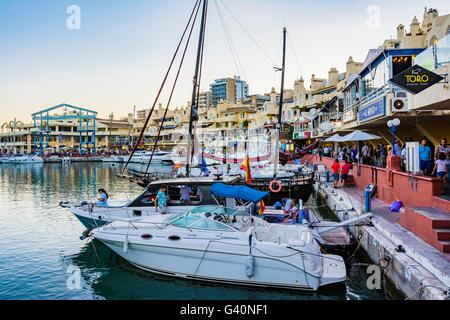 Puerto Marina. Benalmádena Costa. Benalmádena, Málaga, Costa del Sol, Andalucía, Spain, Europe - Stock Photo