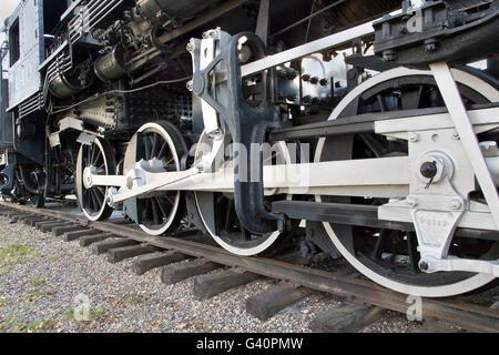 440 SooLine Steam Locomotive on tracks. - Stock Photo