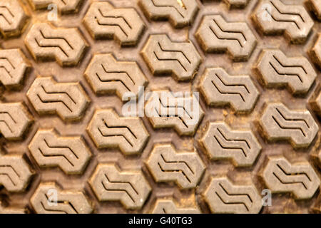 Detailed view of heavy tracktor tire tread texture - Stock Photo