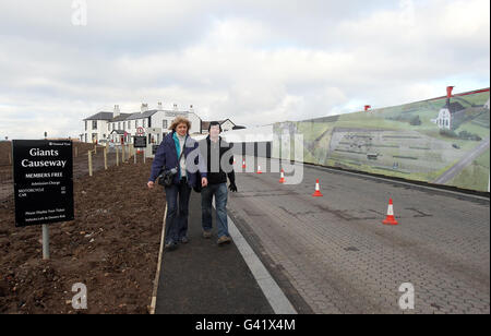 Giant's Causeway visitor centre - Stock Photo