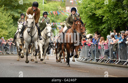 Selkirk, Scottish Borders, UK. 17 Jun 2016.  Selkirk Common Riding is held on the second Friday after the first - Stock Photo