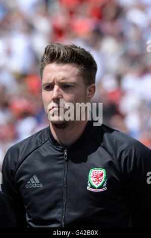 Wayne Hennessey (Galles)                     ;  June 16; 2016- Football : Uefa Euro France 2016  Group Stage-MD2 - Stock Photo