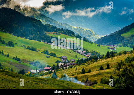 Valley of Chinaillon, Le Grand Bornand, Haute Savoie, Auvergne-Rhone-Alpes, France - Stock Photo