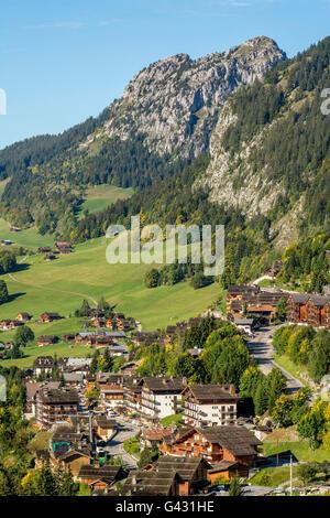 Le Chinaillon, le Grand Bornand ski resort, Haute Savoie, Auvergne-Rhones-Alpes, France, Europe - Stock Photo