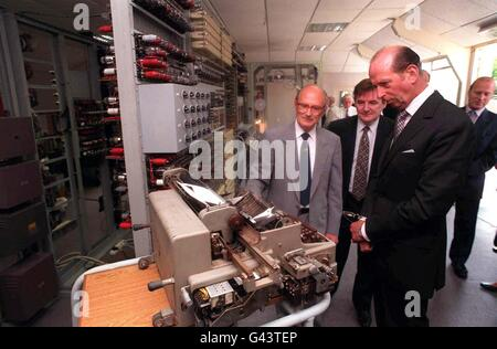 DUKE OF KENT AT BLETCHLEY PARK - Stock Photo