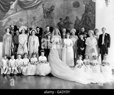 Royalty - The Duke of Kent and Katharine Worsley Wedding - Hovingham Hall - Stock Photo