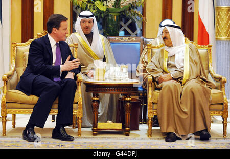 Cameron visits Middle East - Stock Photo