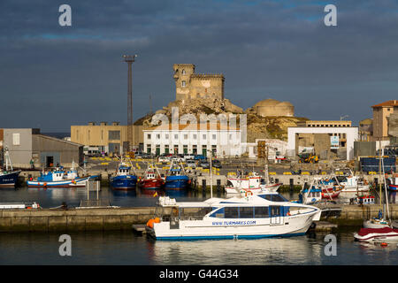 Boats in the fishing port of Tarifa, Costa de la Luz, Cadiz province, Andalusia, Spain Europe - Stock Photo