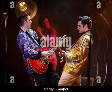 Million Dollar Quartet - Noel Coward Theatre - London - Stock Photo