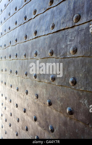 detail of medieval gate door at Belgrade fortress - Stock Photo