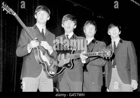 The Beatles Royal Variety 1963 - Stock Photo