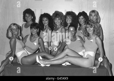 Beauty Contests - Miss UK - London - Stock Photo