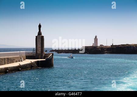 Boats in the fishing port of Tarifa, Costa de la Luz, Cadiz province, Andalusia, Spain Europe - Stock Photo