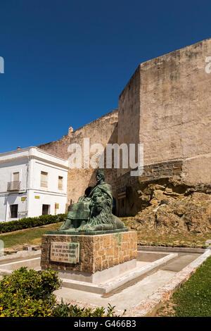 Castle of Guzman el Bueno, Tarifa, Costa de la Luz, Cadiz province, Andalusia, Spain Europe - Stock Photo