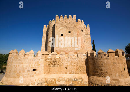 Torre de la Calahorra medieval tower on the Puente Romano over the Guadalquivir river, Cordoba City Andalusia, Spain, - Stock Photo