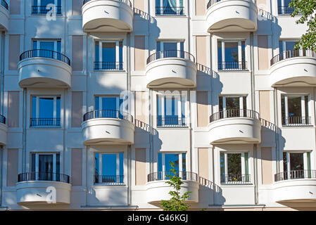 A Modern Apartment House With Round Balconies Stock Photo Royalty
