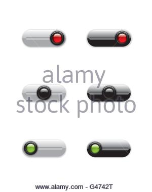 On Off switch buttons - Stock Photo