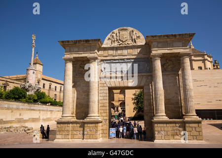 Puerta del Puente, roman door. Cordoba City Andalusia, Spain, Europe - Stock Photo