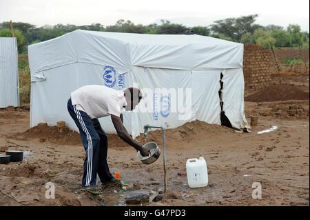 KENYA Turkana Region, refugee camp Kakuma, where 80.000 refugees from Somali, Ethiopia, South Sudan receive shelter - Stock Photo