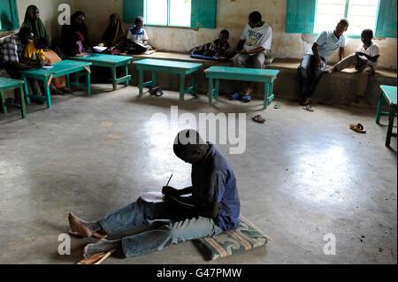 KENYA Turkana Region, refugee camp Kakuma, where 80.000 refugees live,  JESUIT REFUGEE SERVICE school and trauma - Stock Photo