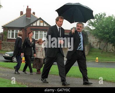 Mr Blair's tribute speech to Diana - Trimdon - Stock Photo
