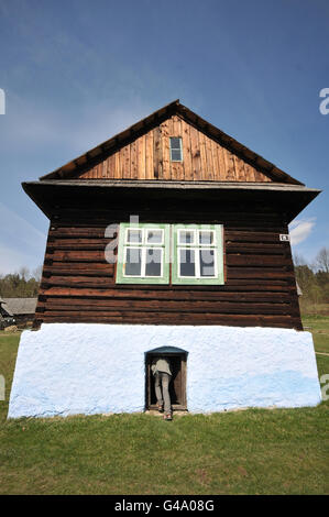 Old log house from northeast of Slovakia