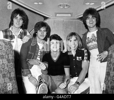 The Bay City Rollers - Heathrow Airport - London - Stock Photo