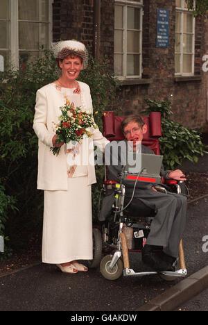 Stephen Hawking - Marriage - Stock Photo