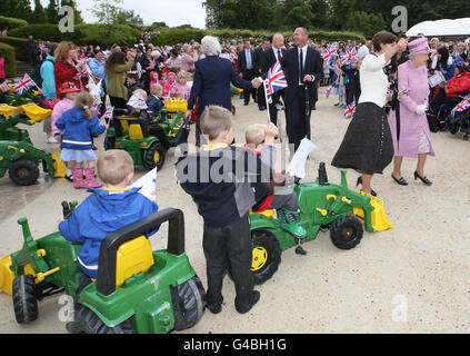 Royal visit to Alnwick - Stock Photo